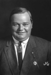 "Roscoe ""Fatty"" Arbuckle, host of the Third Annual Academy Awards"