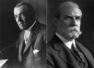 Woodrow Wilson and Charles Evan Hughes