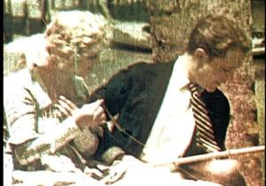 A scene from The Gulf Between, an early color film